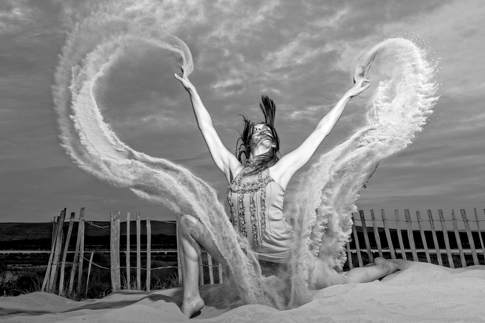Projet Dance on Sand avec une danseuse sur le sable
