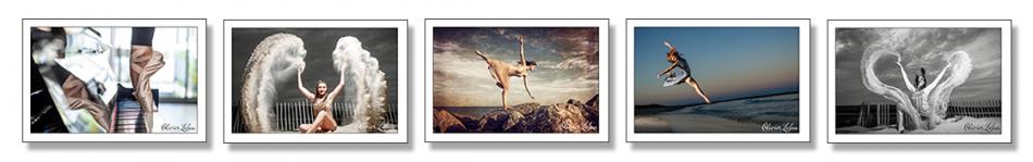 Les photo ont été réalisées sur la plage avec des danseuses professionnelles;